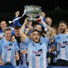Ballymena lift the trophy after they win 0-2 (Picture by Jonathan Porter/PressEye)