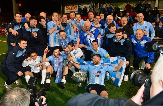 Ballymena winners of the League Cup final at Seaview in Belfast. Picture By: Arthur Allison/Pacemaker Press