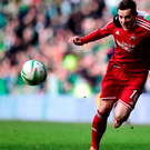 Late winner: Aberdeen's Peter Pawlett's scored to deny Lee McCulloch an opening win