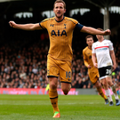 Hat-trick: Harry Kane scored all three in Spurs' Cup-tie triumph