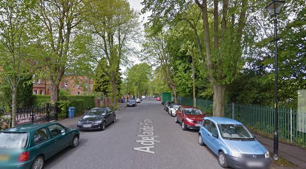 The incident happened in the early evening on Adelaide Street off the Malone Road. Pic Google Maps