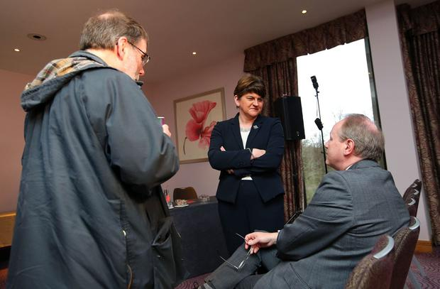 DUP Leader Arlene Foster pictured at their manifesto launch at the Stormont Hotel in Belfast. Picture by Kelvin Boyes / Press Eye,