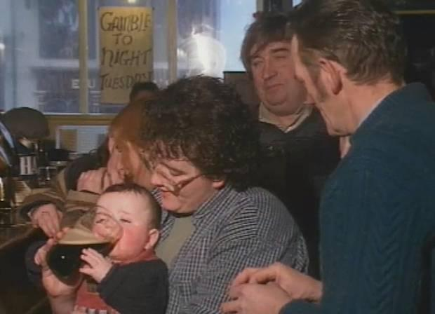 Stephen Barron, aka Pint Baby, on Nationwide. Credit: RTE