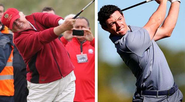 Rory McIlroy played golf with Donald Trump at Trump International