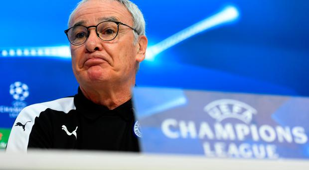 Up against it: Claudio Ranieri admits Leicester face a tough task