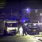 Police and ATO at the scene of a security alert close in New Mossley. (Photo - Kevin Scott / Belfast Telegraph)
