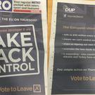 The DUP's advertisement that appeared in The Metro