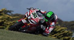 New blow: Eugene Laverty crashed in testing this week