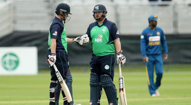 Opening up: William Porterfield (left, with Paul Stirling) is relishing Ireland's longest tour