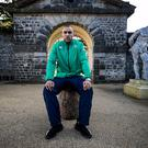 In the hotseat: Simon Zebo, at Carton House yesterday, is hoping to add to his sole Six Nations try tomorrow