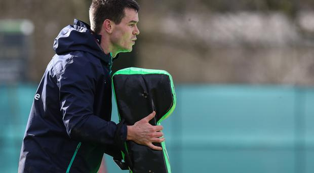 Big return: Johnny Sexton gears up to face the French