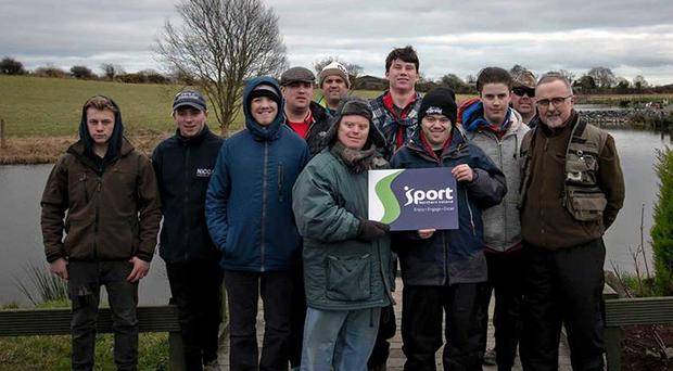 Great day: Some of the participants in the second session of the Angling for All Project at the Beechhill Fishery, Newtownards