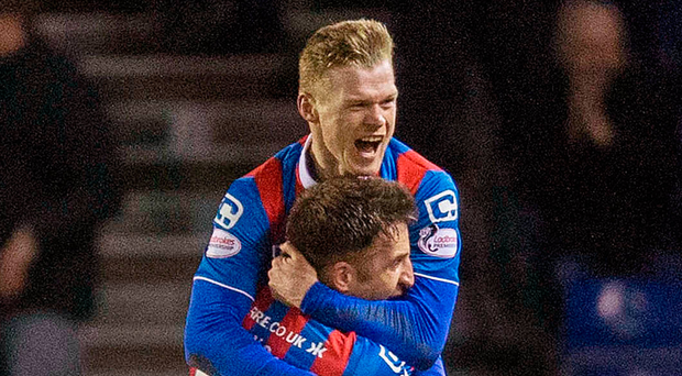 Winner: Billy McKay celebrates the winner for Inverness. Photo: Jeff Holmes/PA
