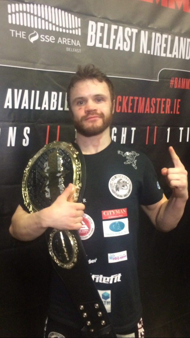 Newtownards fighter Andy Young became a new BAMMA world champion at the SSE Arena