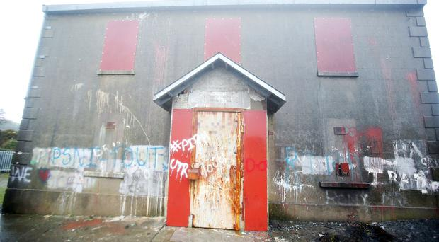Altnaveigh Orange Hall in Newry, Co Armagh, which was damaged in an overnight arson attack. Picture by Jonathan Porter/PressEye.com