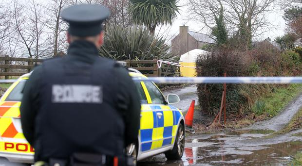 The scene on the Bangor Road outside Newtownards in Co Down where a man in his 20s died after an assault in the early hours of Sunday morning. Picture by Jonathan Porter/PressEye.com