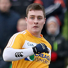 Sharp shooter: CJ McGourty was on target for Antrim in Corrigan Park