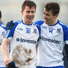 United: Monaghan duo Karl O'Connell and Thomas Kerr are all smiles