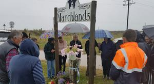 A memorial is held in South Africa for Susan Howarth