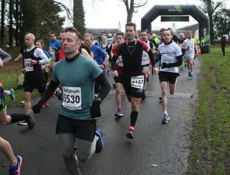 Mandatory Credit - Picture by Freddie Parkinson/Press Eye © Saturday 25th February 2017 Belfast Telegraph Run Forest Run Castlewellan Forest Park