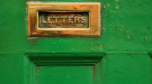 Letter slot in the green door