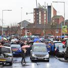 The funeral of east Belfast man Conan Anderson who died after he suffered a serious head injury following a night out in Belfast. Picture: Arthur Allison Pacemaker