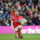 Long shot: Leigh Halfpenny turned down kick