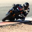 On track: Michael Laverty during testing at Cartagena yesterday