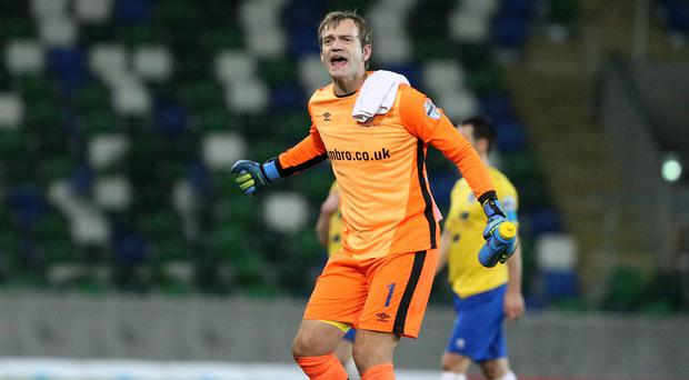 Hungry for more: Roy Carroll is not ready to quit just yet and has targeted extending his stay at Linfield to taste trophy success