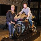 On board: Alastair Seeley with Spirit Motorcycles MD Tony Scott