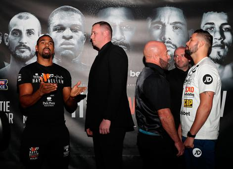 War of words: David Haye and Tony Bellew at their final pre-fight press conference