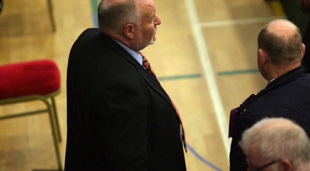 Count at Valley Leisure Centre in Newtownabbey for East Antrim and South Antrim constituencies. David Hilditch, DUP Photo by Freddie Parkinson / Press Eye ©