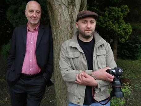Recovery road: cartoonist Tony Husband with son Paul, now a keen photographer