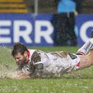 Ulster's Jared Payne scores a try. Photographer - © Matt Mackey / Press Eye