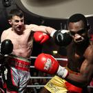 Big hitter: Tyrone McCullagh lands a blow during victory over Michael Barnor