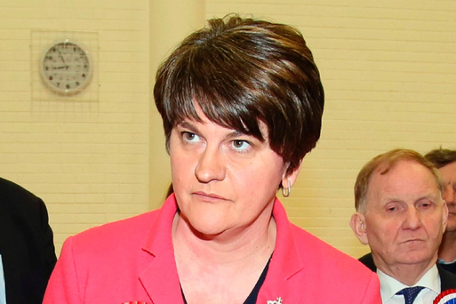 DUP Leader Arlene Foster. Pic Paul Faith PA