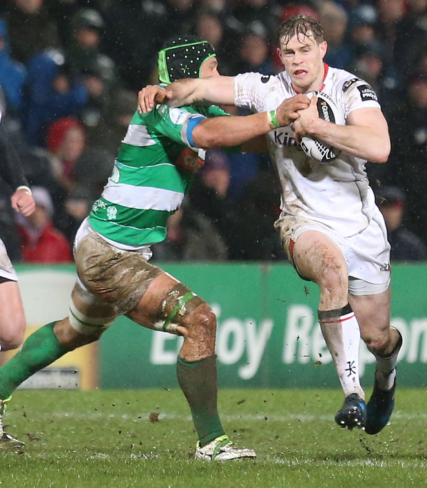 Painful blow: Andrew Trimble suffered a hand injury during Ulster's Pro12 win over Treviso