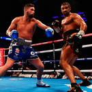First to the punch: Tony Bellew on the front foot during his victory over David Haye