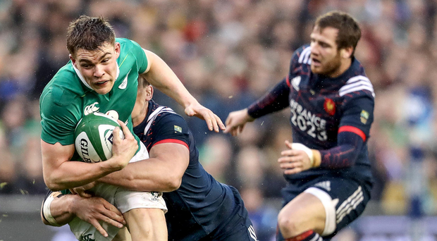 Real deal: Brian O'Driscoll is a big fan of Garry Ringrose