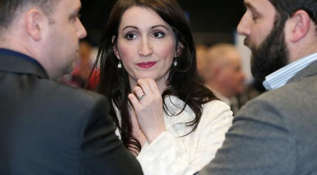 Emma Little-Pengelly pictured as the count continues into he early hours of Saturday morning. Photo by Jonathan Porter / Press Eye.
