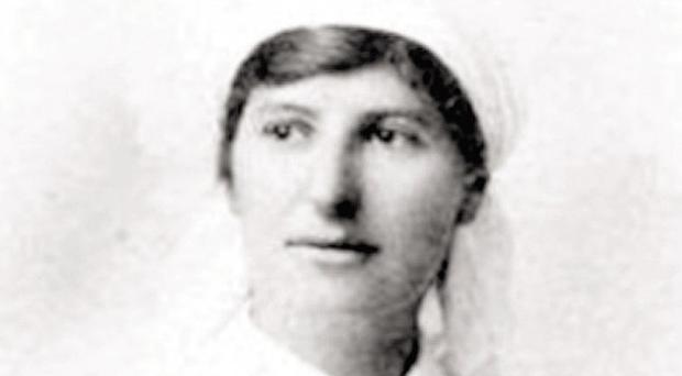 A portrait of Emma taken during the First World War in 1916
