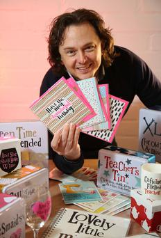 Michael Gray, also inset left, set up his own greeting cards company after the horror of the Twin Towers attack brought home how short life is