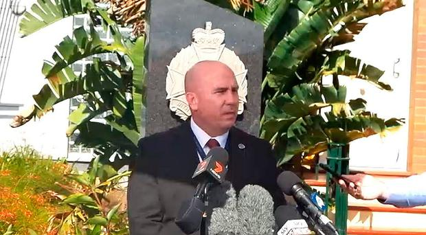 Detective Inspector Paul Hart speaking to the media after a British backpacker was allegedly held captive in Australia and repeatedly raped in an ordeal lasting two months.