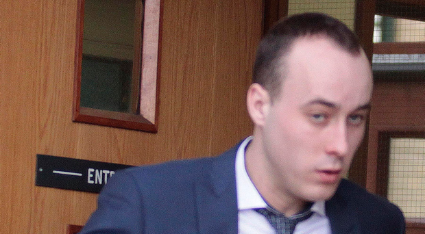 Ruairi McNally (24) of Kilrea Road, Upperlands leaves Antrim Magistrates Court