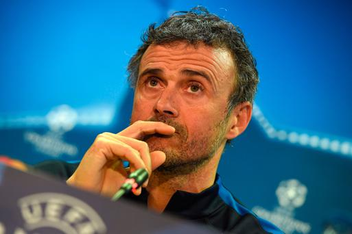 Defiant stance: Barca's Luis Enrique isn't giving up hope