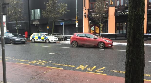 Scene of the incident on Wednesday morning.