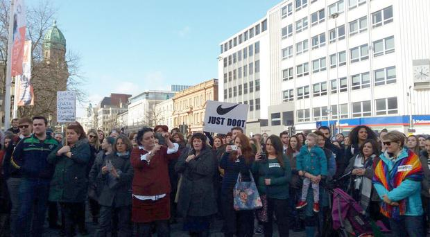 The Strike4Choice rally called for the end of Northern Ireland