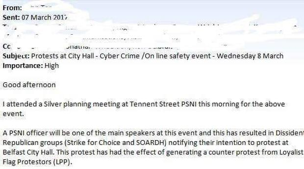 A screen shot of the memo sent to councillors by email.