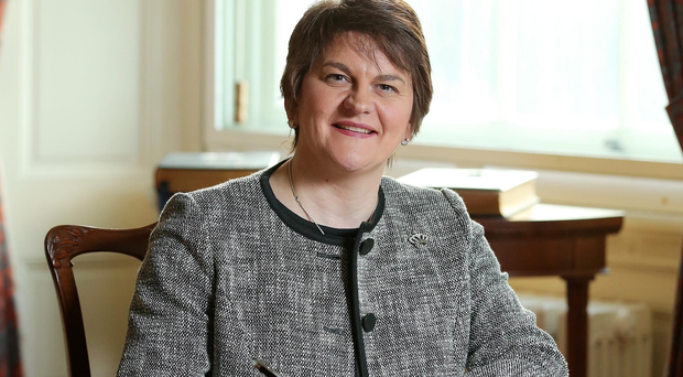 Press Eye - Belfast - Northern Ireland - 11th January 2016 - New First Minister Arlene Foster at Parliament Buildings, Stormont this afternoon. Picture by Kelvin Boyes / Press Eye.