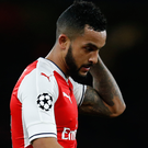 Support: Theo Walcott has backed his under-fire boss